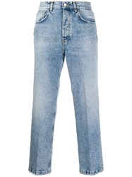Haikure Cropped Straight Leg Jeans Blue
