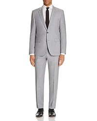 Hugo Solid Regular Fit Suit Light Pastel Gray