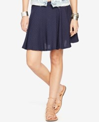Denim And Supply Ralph Lauren Star Print A Line Mini Skirt Navy
