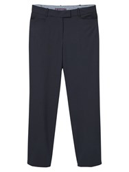 Violeta By Mango Straight Suit Trousers Navy