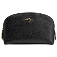 Coach Crossgrain Leather Cosmetic Case 17 Black
