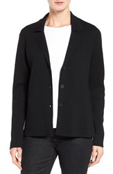 Eileen Fisher Women's Interlock Knit Merino Wool Notch Collar Jacket