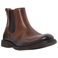 Bertie Ceasars Brushed Leather Chelsea Boots Tan