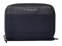 Tumi Voyageur Trifold Zip Around Navy Wallet