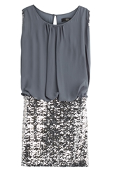 Steffen Schraut Summer Glam Draped Jersey Dress With Sequins