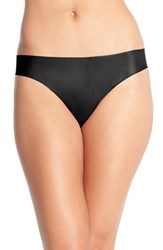 Women's Halogen Seamless Mesh Thong Black
