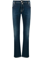 Jacob Cohen Faded Denim Jeans Blue
