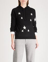 Chinti And Parker Star Cashmere Hoody Black Cream
