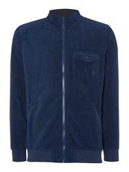Army And Navy Howard Full Zip Fleece Track Top Marine