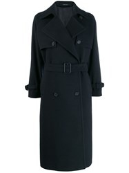 Tagliatore Oversize Trench Coat Blue