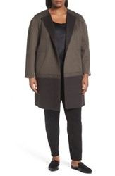 Lafayette 148 New York Plus Size Women's Hayes Wool And Cashmere Coat Lead Ash