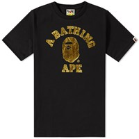 A Bathing Ape Foil College Tee Black