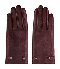 Reiss Jessica Womens Dents Leather Gloves In Red