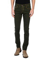 Maison Clochard Denim Denim Trousers Men Military Green