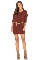 American Vintage Vacaville Sweater Dress Rust