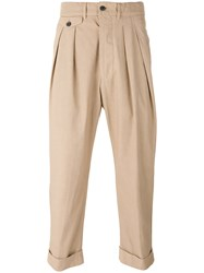Lardini Pleated Trousers Men Cotton 48 Nude Neutrals