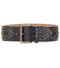 Ralph Lauren 2 7 8 Contour Studded Leather Waist Belt Brown