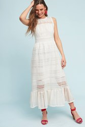 Anthropologie Lilou Trumpet Dress Ivory