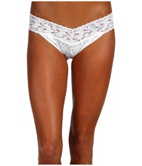 Hanky Panky Mrs. Original Rise Bridal Thong White Blue Women's Underwear