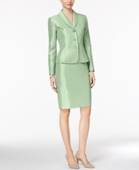 Le Suit Shawl Collar Shimmer Skirt Mint