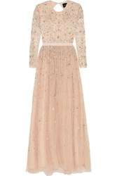 Needle And Thread Celestial Embellished Tulle Gown Blush