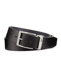 Nike Reversible Faux Leather Belt Black Gray