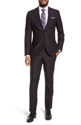 Ted Baker London Roger Extra Trim Fit Solid Wool Suit Deep Eggplant