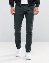 New Look 5 Pocket Skinny Jeans In Green Green