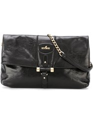 Hogan Chain Strap Cross Body Bag Black