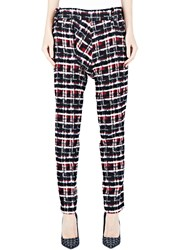 Aganovich Tartan Tweed Pants Black