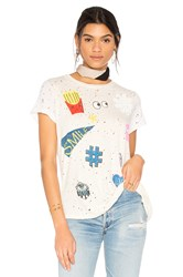 Lauren Moshi Bess Love And Smile Tee White
