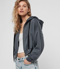 Allsaints Quince Hoodie Washed Black