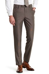 Louis Raphael Modern Fit Flat Front Trouser 30 34 Inseam Brown