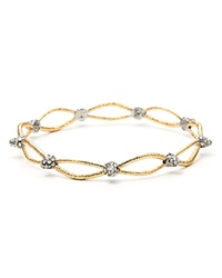 Alexis Bittar Elements Pave Spike Woven Bangle Gold Rhodium