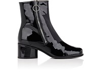 Marc Jacobs Women's Crawford Patent Leather Ankle Boots Black