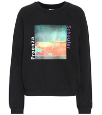 Proenza Schouler Printed Cotton Sweatshirt Black
