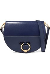J.W.Anderson Jw Anderson Latch Smooth And Textured Leather Shoulder Bag Navy