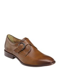 Johnston And Murphy Mcclain Leather Monk Strap Dress Shoes Tan