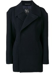 Y's Single Breasted Coat Blue
