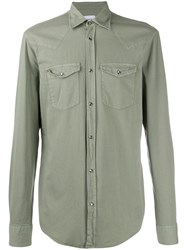 Dondup Long Sleeve Shirt Green