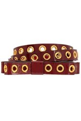 Red Valentino Patent Leather Belt Burgundy