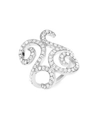 Michela Pave Scroll Ring Silver
