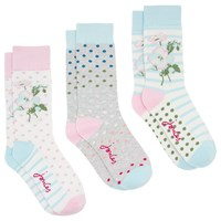 Joules Brilliant Bamboo Floral Socks Pack Of 3 Multi