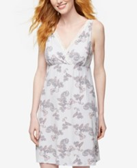 A Pea In The Pod Printed Nursing Nightgown Floral Print