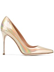 Sergio Rossi High Shine Pumps Women Calf Leather Leather 39 Grey