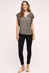 Anthropologie Pilcro Serif Mid Rise Legging Jeans Black