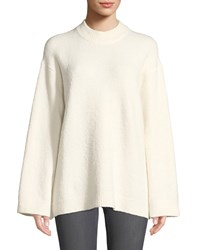 Elizabeth And James Josette Oversized Boucle Pullover Sweater White
