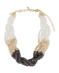 Emily And Ashley Beaded Twisted Statement Necklace Neutral