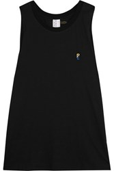 P.E Nation Striker Printed Cotton Jersey Tank Black