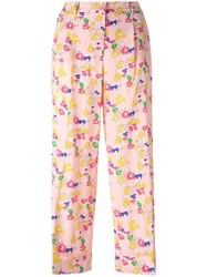 P.A.R.O.S.H. Sabrina Floral Trousers Pink Purple